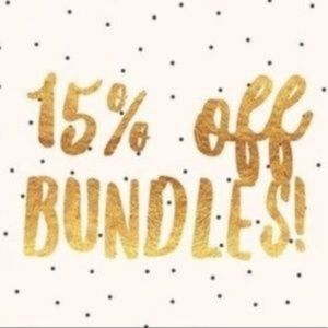 Bundle 2 or more and automatically get 15% off!!